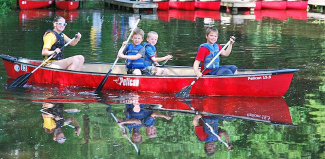Rockfish - canoeing on the lake